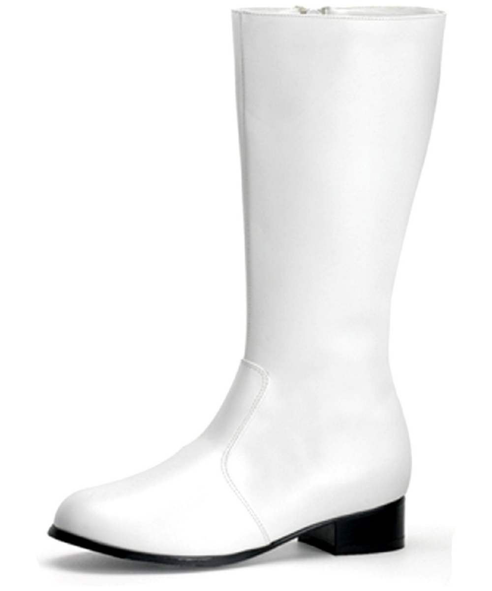 Fantastic Its A Mod, Mod, Mod, Mod World Its Retroagogo With These Gogo White Adult Boots! Go Back In Time When Short Skirts And Tall Boots Were All The Rage Youll Be Ready For Strutting, Dancing, And Breakin Hearts In This Far Out Footwear