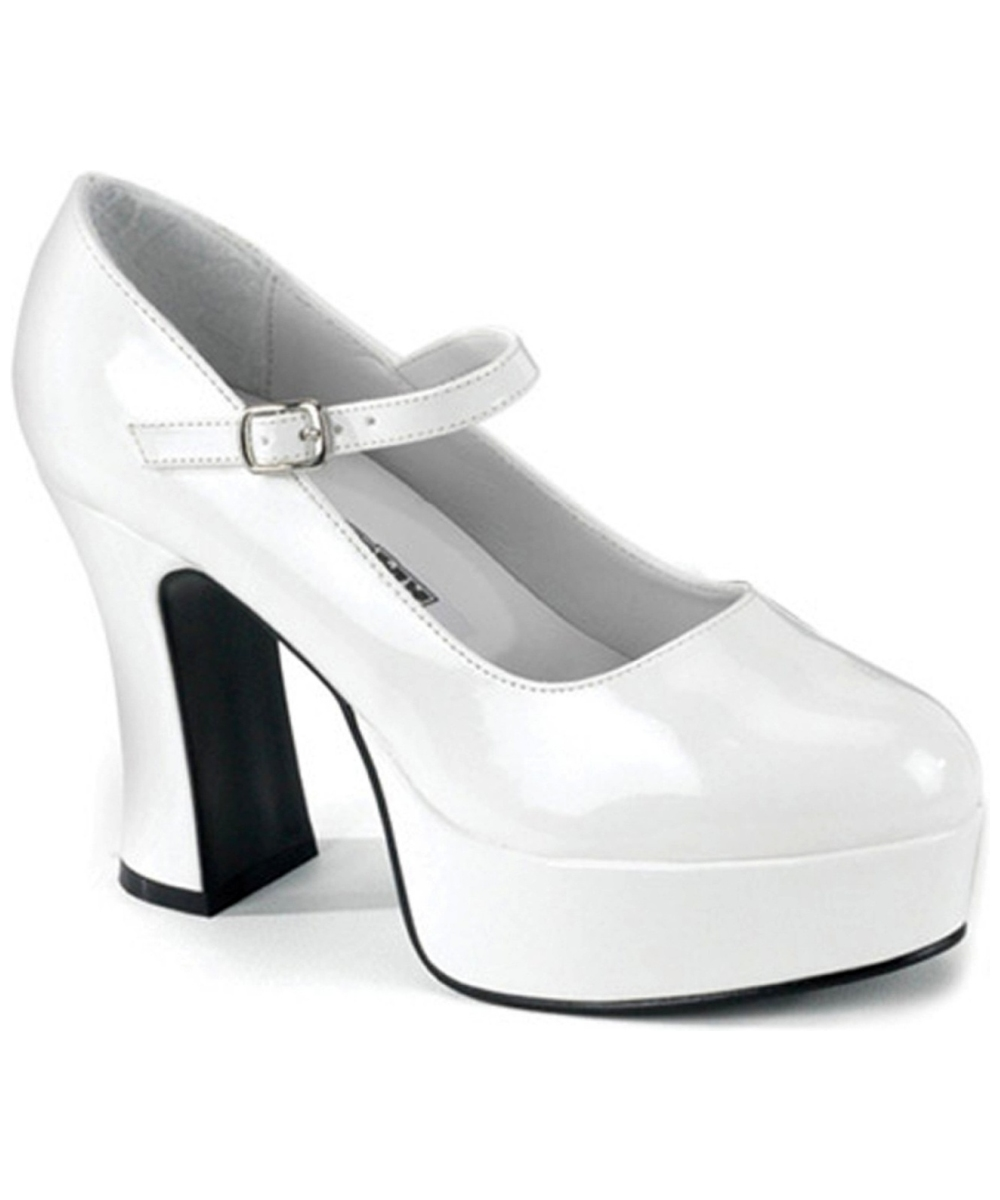 platform shoes white wide width