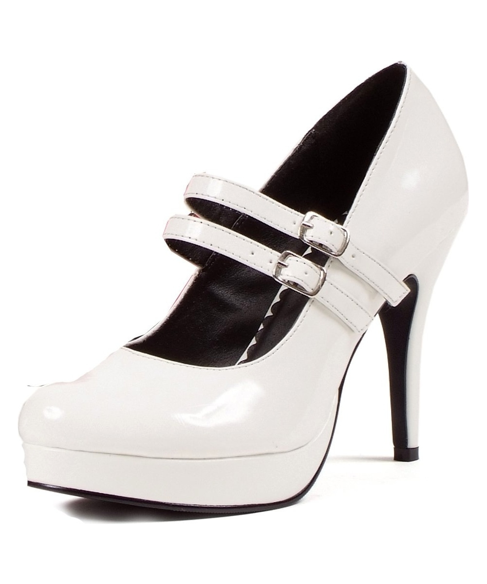 Adult white mary jane shoes costume shoes