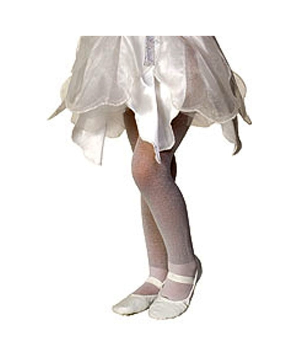 White Sparkle Kids Tights