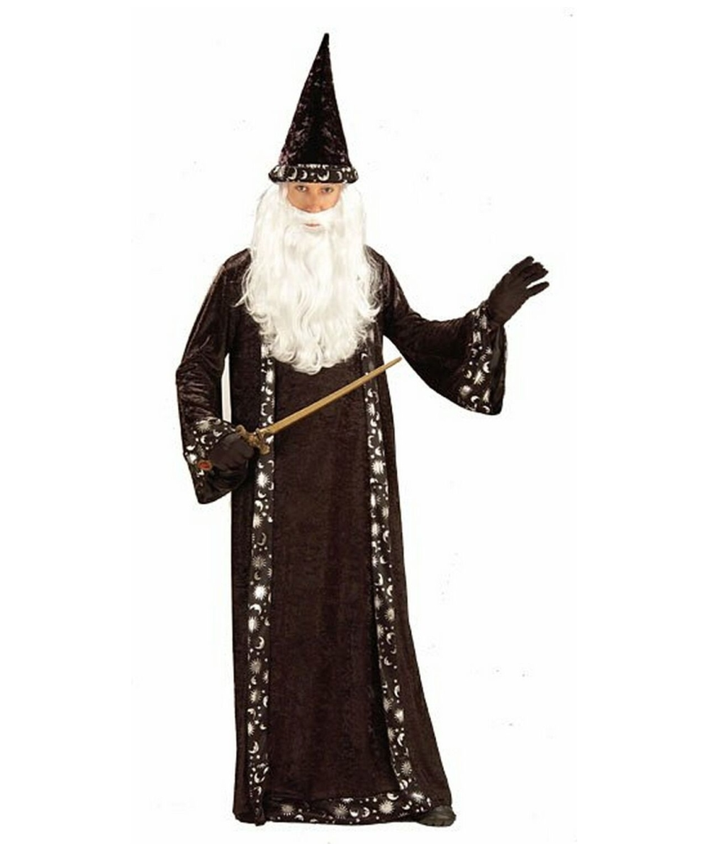 Robe And Wizard Hat: Witch Halloween Costume