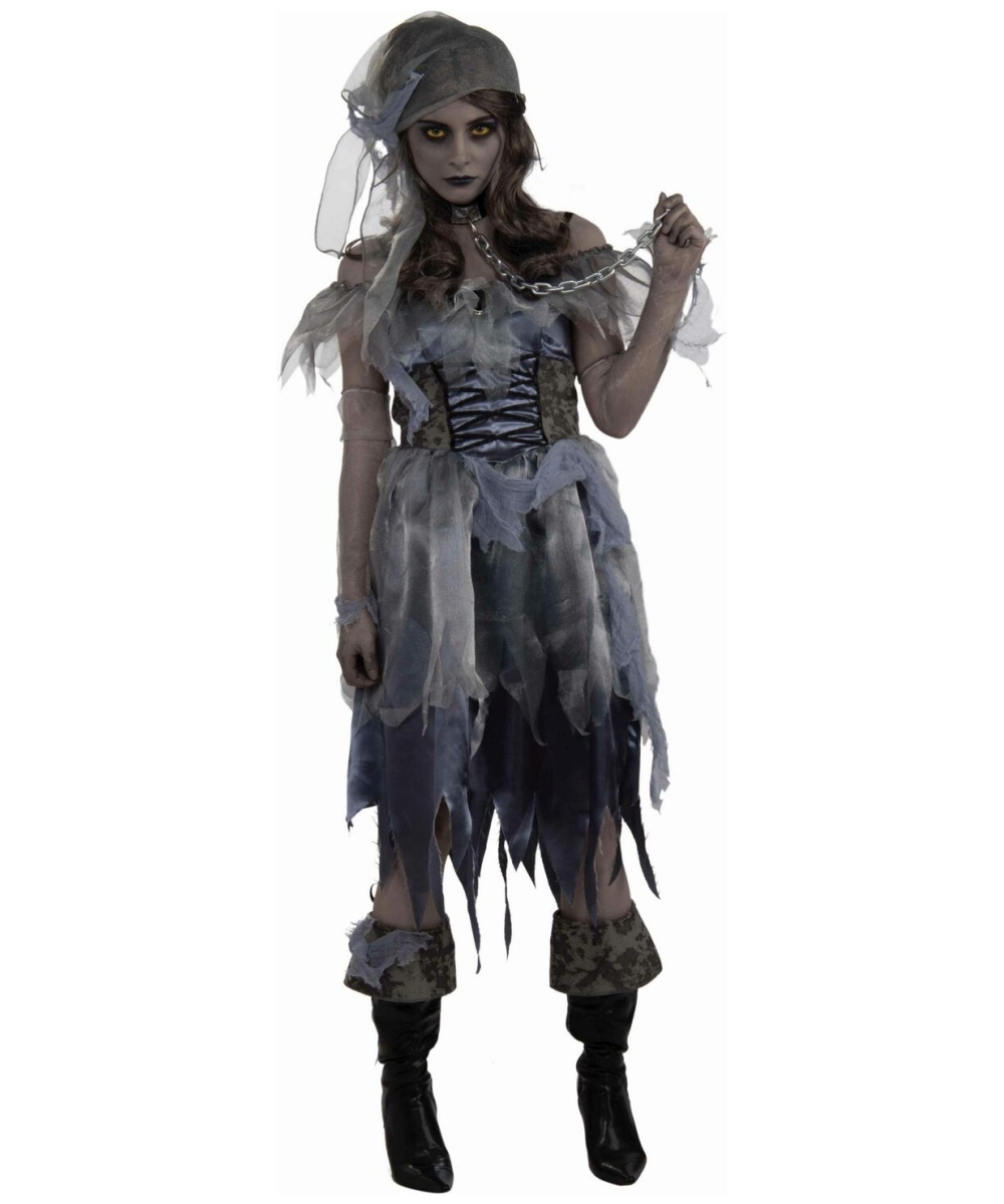 Adult Zombie Girl Pirate Halloween Costume - Women Costumes
