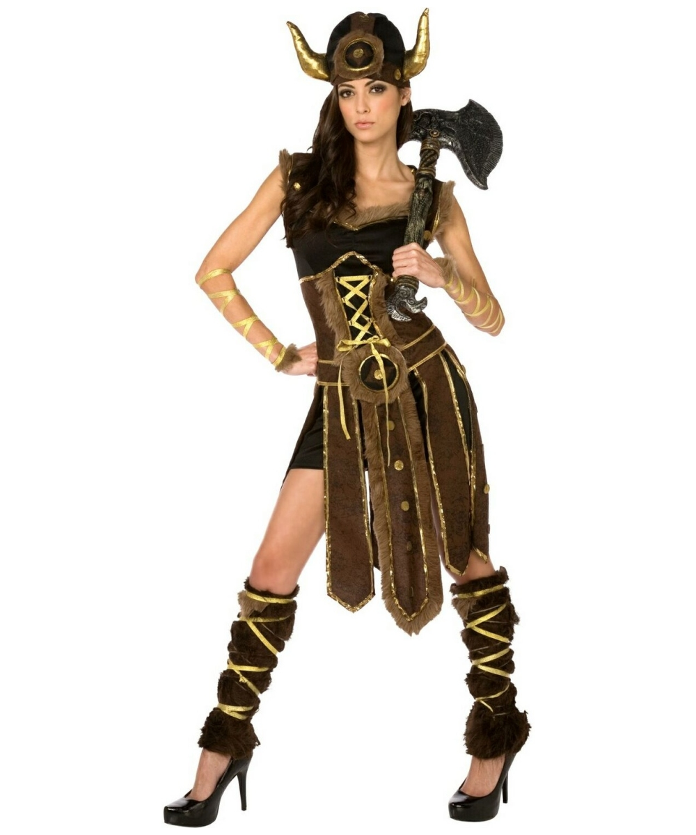 Viking striking adult costume viking movie costumes - Costume femme halloween ...