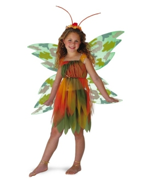 Amber Woodland Fairy Girls Costume