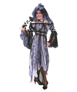 Black Widow Bride Costume - Adult Costume