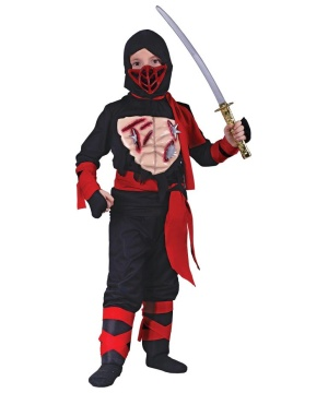 Ninja Vinyl Chest Boys Costume