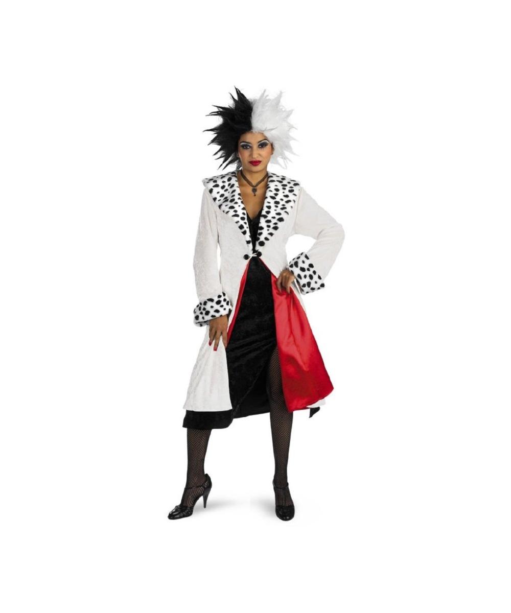 disney cruella adult costume women disney costumes. Black Bedroom Furniture Sets. Home Design Ideas