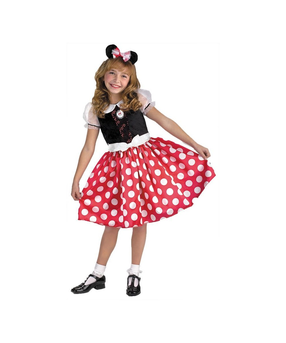 minnie mouse disney kids costume girls disney costumes. Black Bedroom Furniture Sets. Home Design Ideas