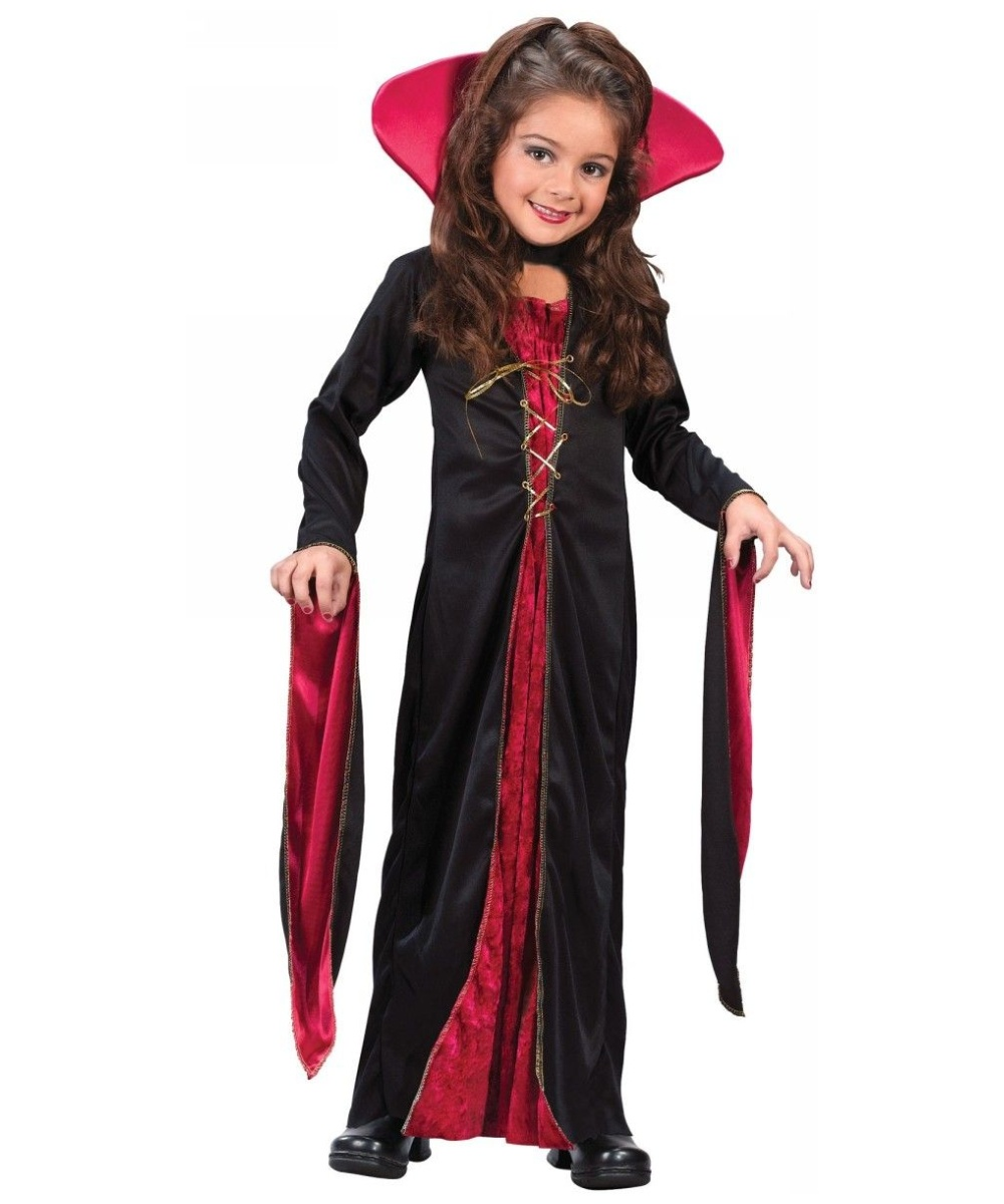 Victorian vampiress kids halloween costume vampire costumes for Cool halloween costumes for kids girls
