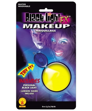Yellow Glow Blacklight Makeup