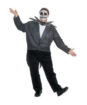 Skellington plus size Men Costume