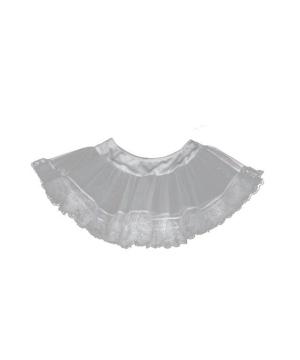 White Lace Petticoat Women Costume