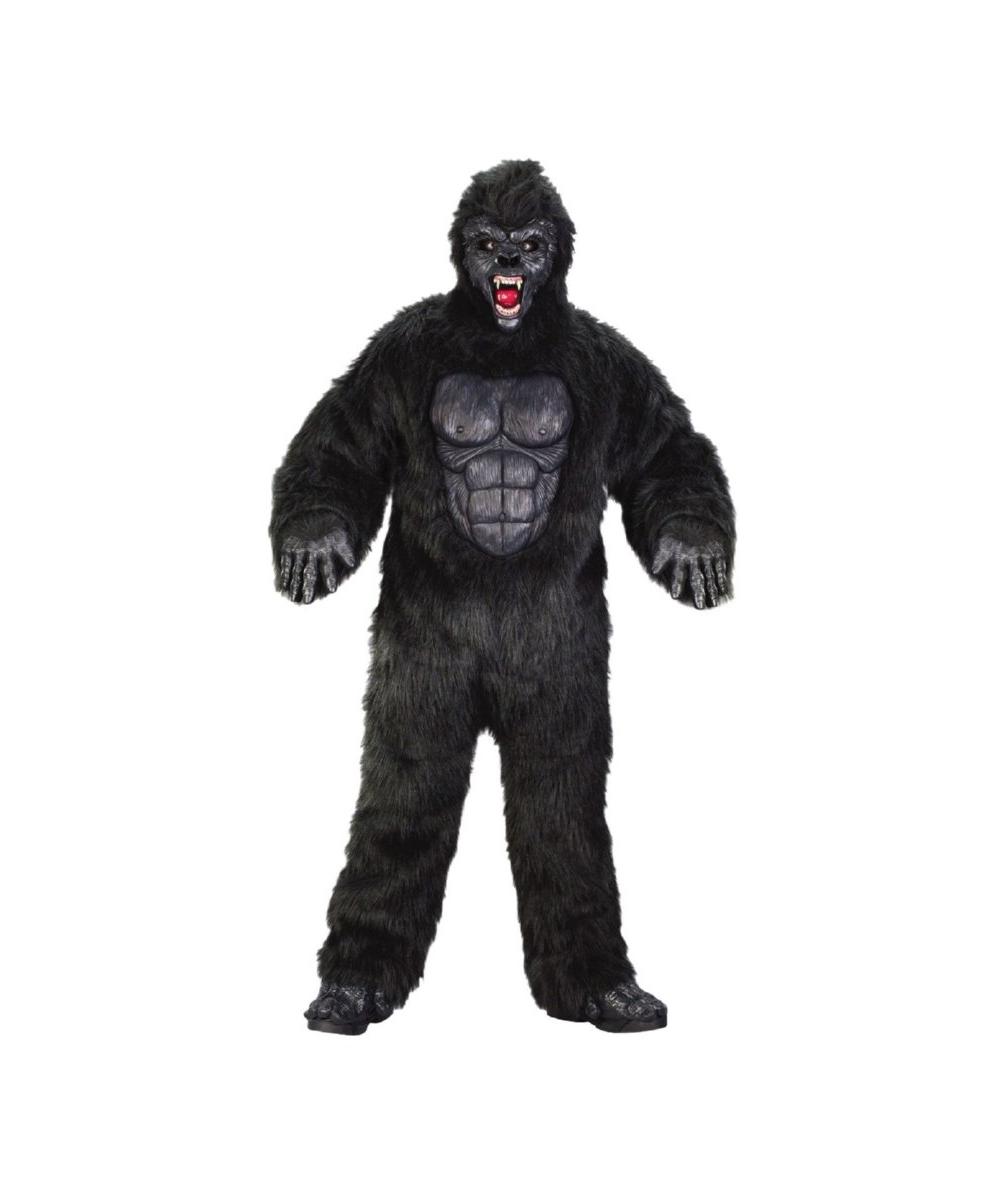 Adult Ferocious Gorilla Monkey Animal Costume Men Costumes