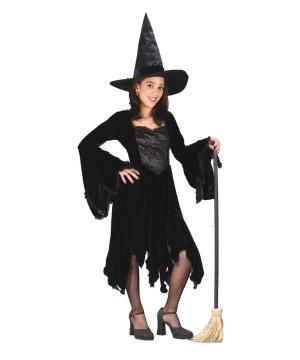 Black Velvet Witch Kids Costume