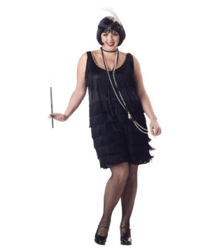 Flapper plus size Women Costume
