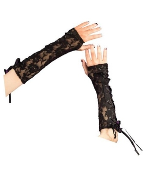 Glovettes Gothic Black Lace