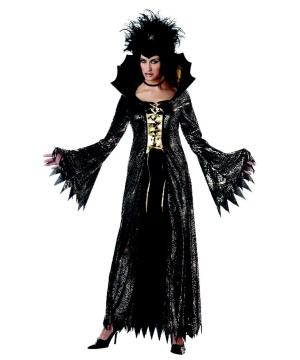 Gold Black Spiderella Women Costume