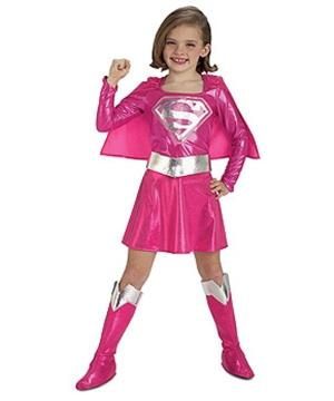 Pink Supergirl Kids Costume
