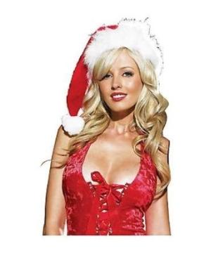 Plush Velvet Santa Hat