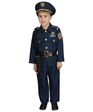 Police Officer Boys Costume