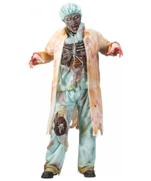Zombie Doctor Scary Mens Costume