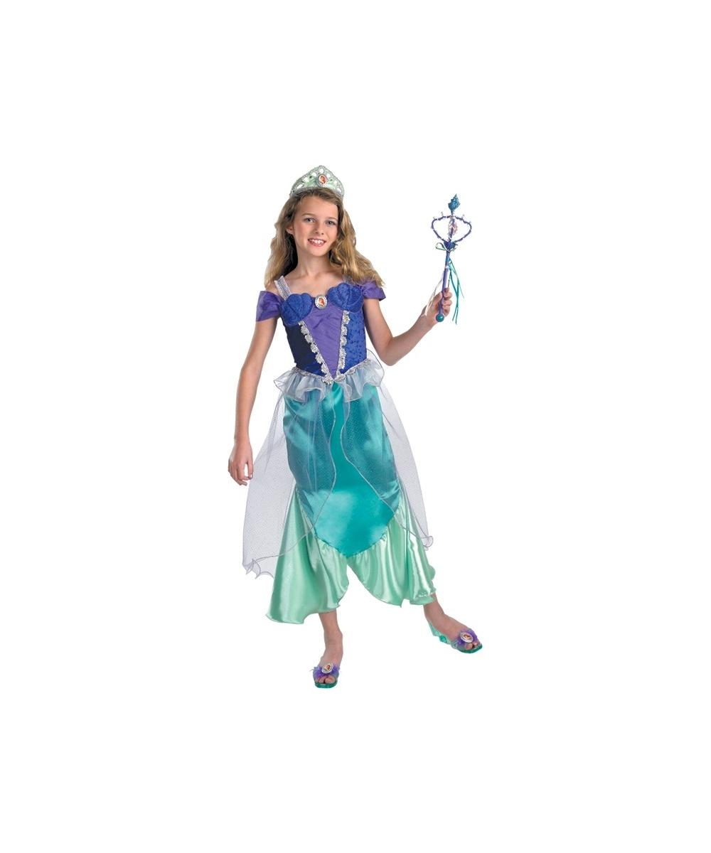 Ariel Disney Little Mermaid Kids Costume - Girls Disney Princess ...