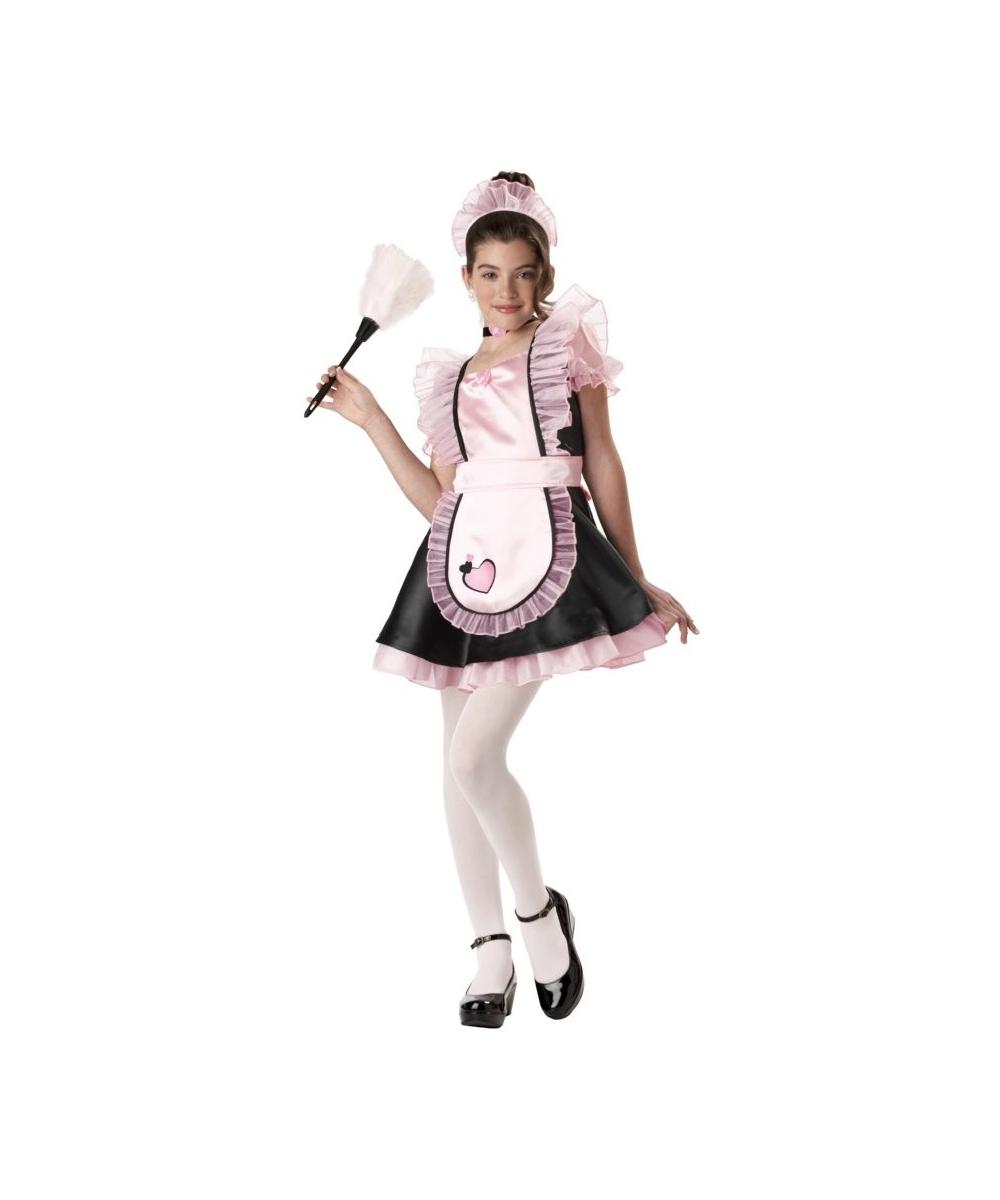 French Maid Kids Costume - Girls Halloween Costumes