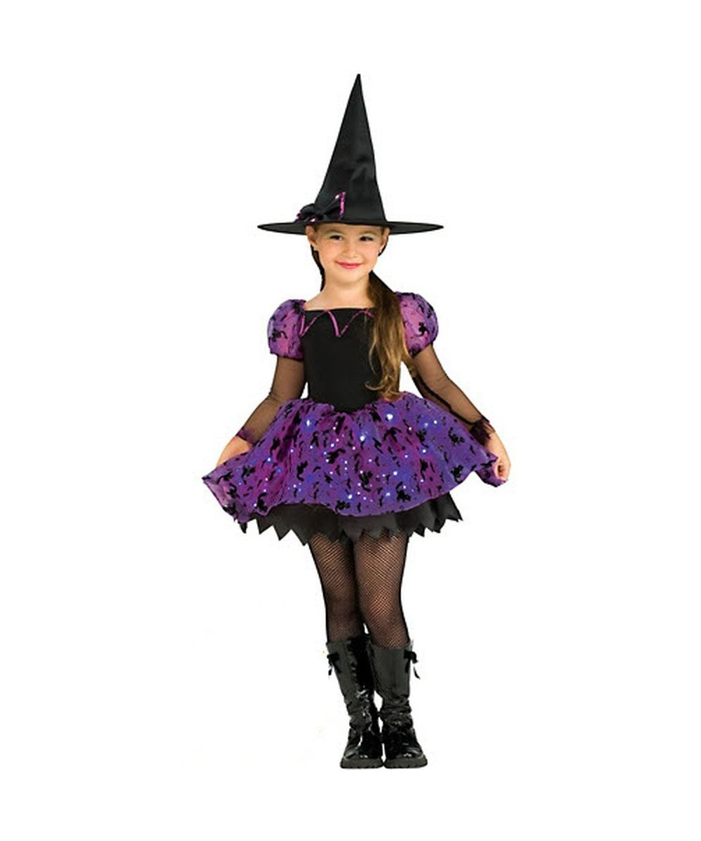 Witch Black Cat Kids Halloween Costume - Girls Costumes