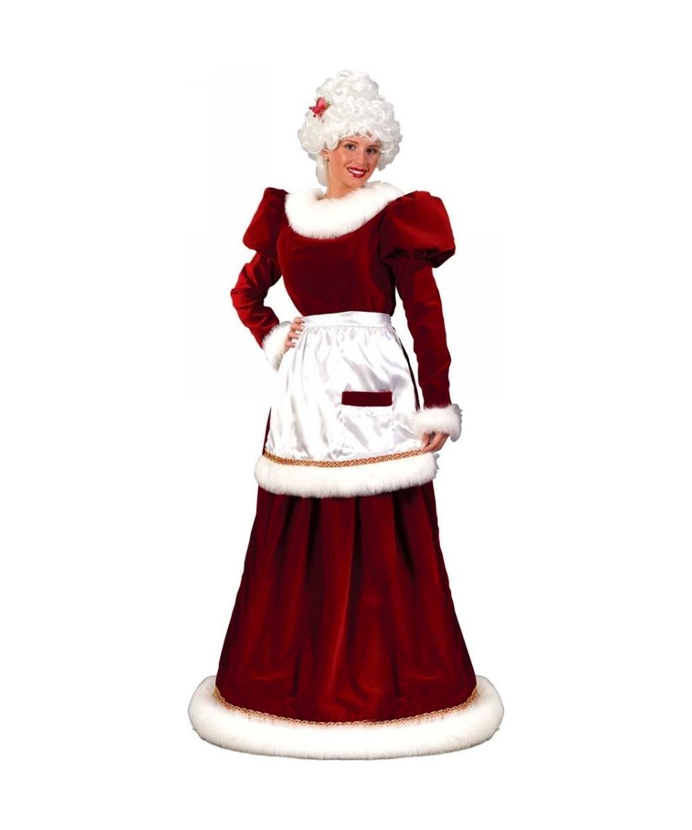 Adult Mrs Santa Suit Velvet Christmas Costume plus size - Santa ...