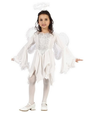 Angel Velour Girls Costume