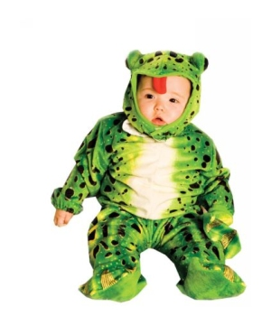 Green Plush Frog Baby Costume