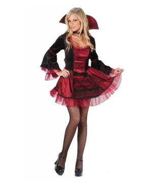 Red Vampiress Women Costume