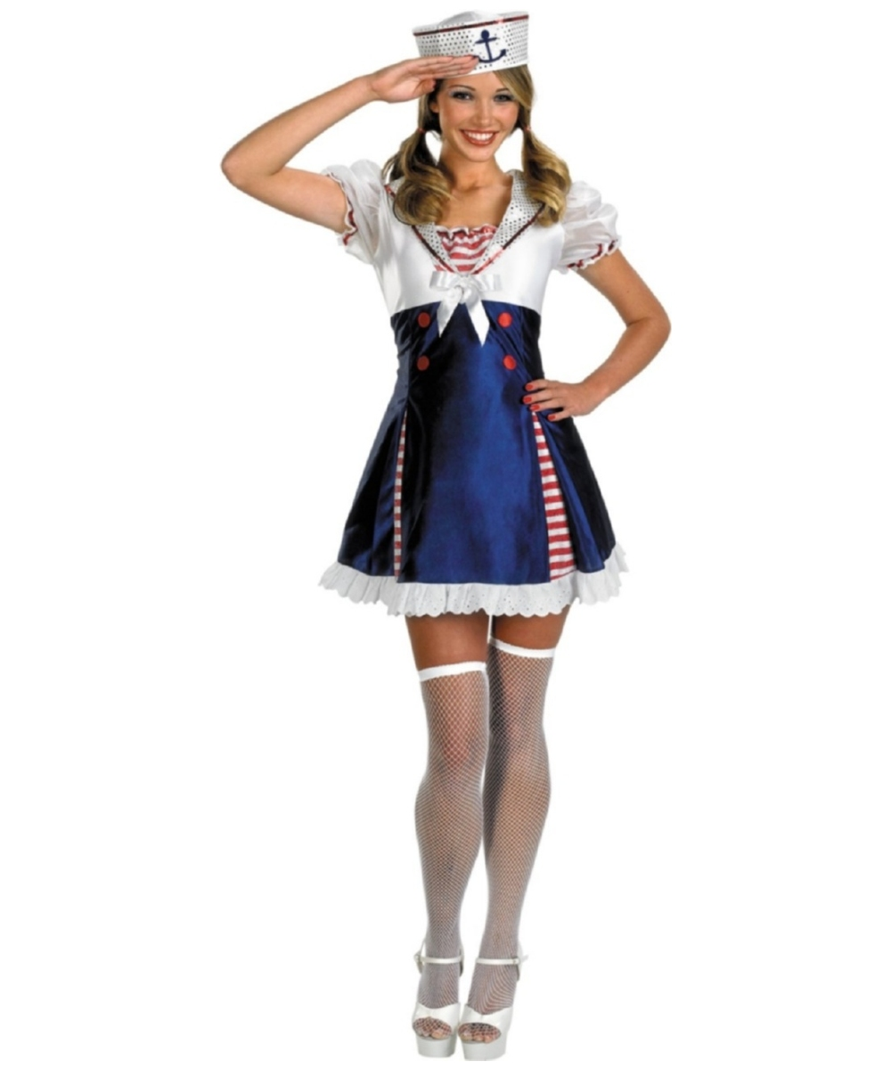 sailor ahoy matey teen costume sailor halloween costumes. Black Bedroom Furniture Sets. Home Design Ideas