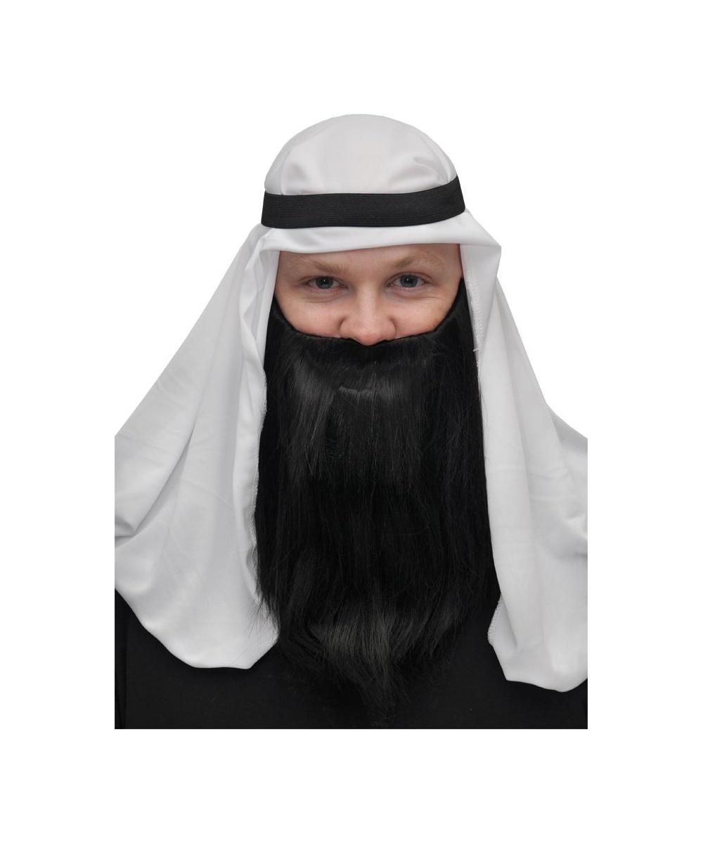 Full Black Beard And Mustache Halloween Costume