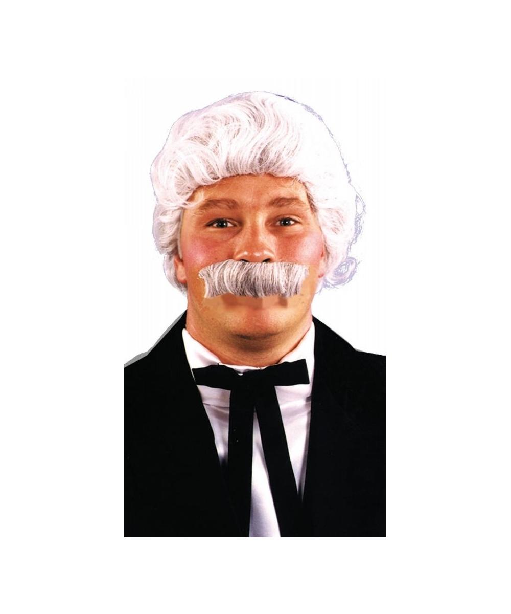 Mark Twain Wig Mustache Set