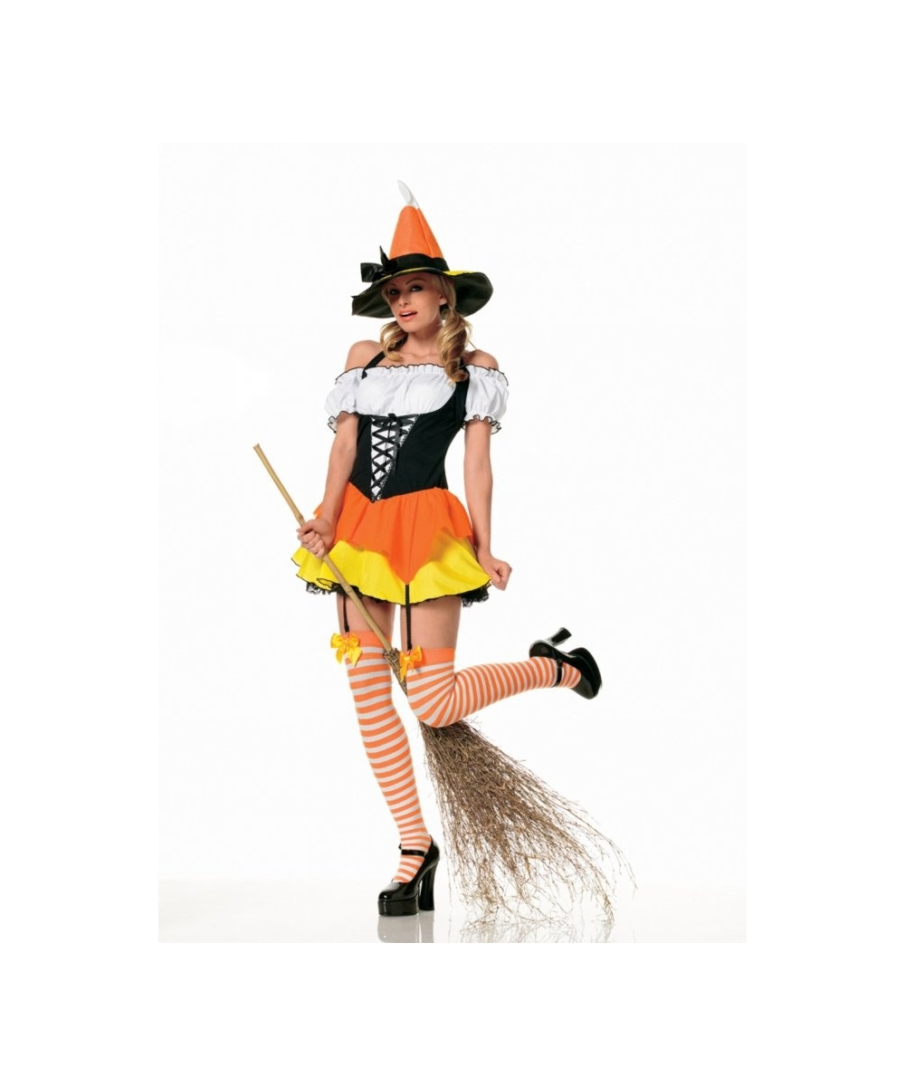 Witch Candy Corn Kids Halloween Costume - Girls Costumes