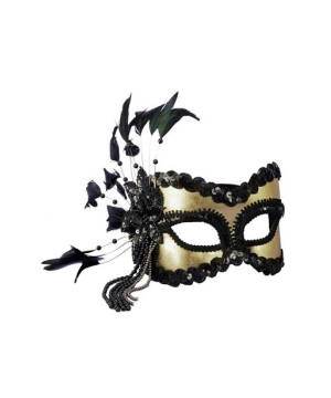 Black and Gold Masquerade Adult Mask