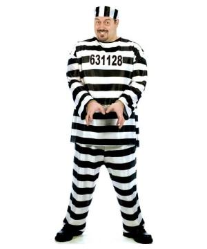Convict Costume plus size Costume