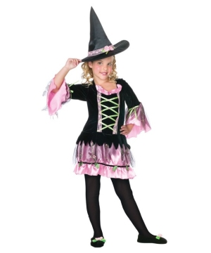 Flower Witch Girls Costume