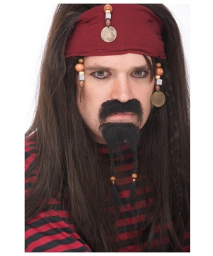 Pirate Adult Mustache and Goatee Set
