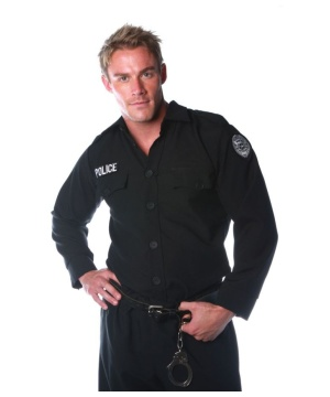 Police Shirt Men Costume