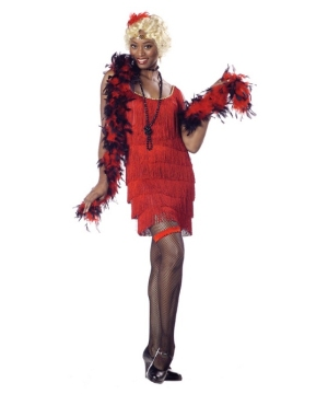 Fashion Flapper Red Women Costume