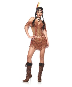 Sexy Tiger Lily Indian Womens Costume