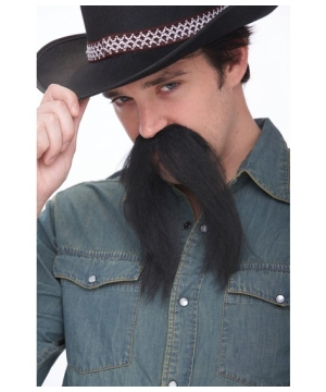 Western Black Mustache