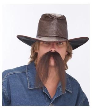 Western Brown Mustache