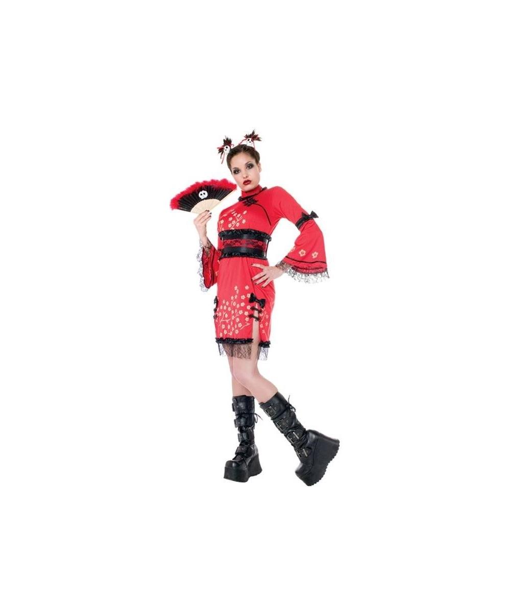 Adult China Doll Geisha Costume - Girls Costume