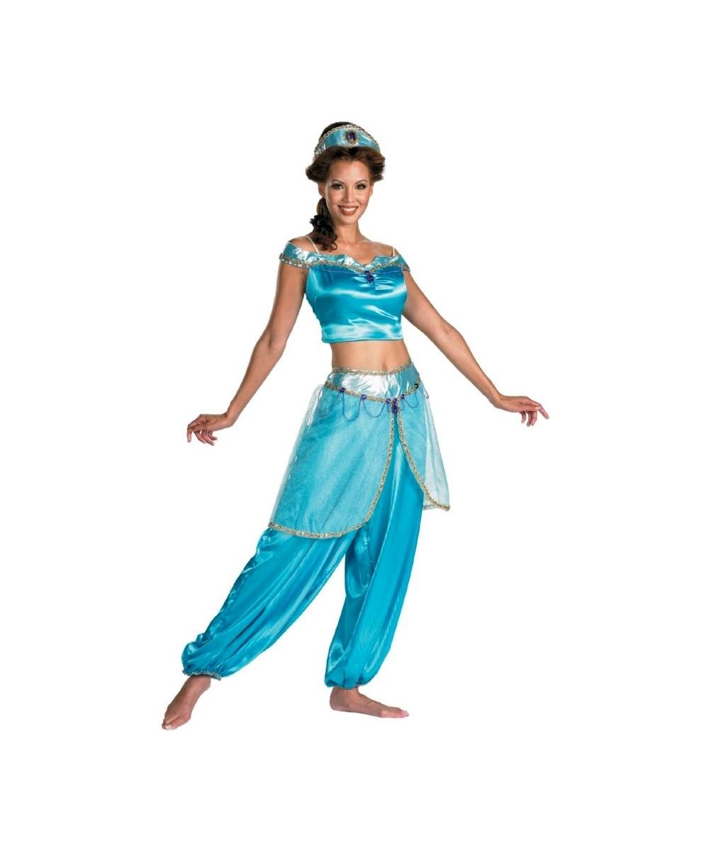 Adult jasmine disney costume women costumes - Costume princesse disney adulte ...