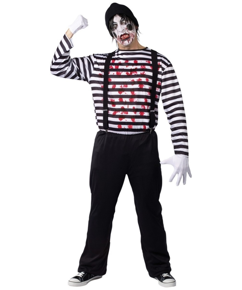 maniacal mime costume adult halloween costumes - Mime For Halloween