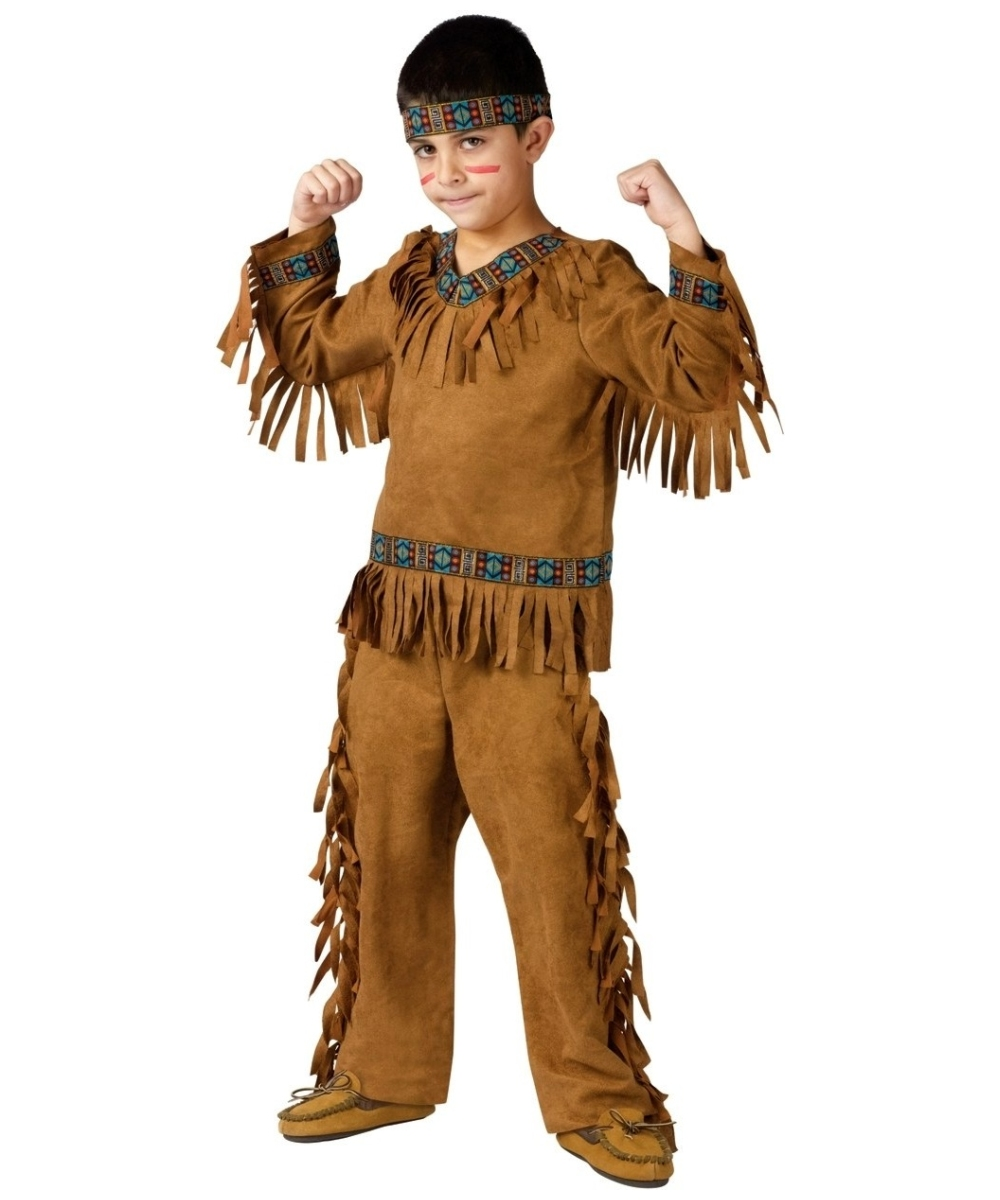 indian native american boy costume kid indian costumes - Native American Costume Halloween