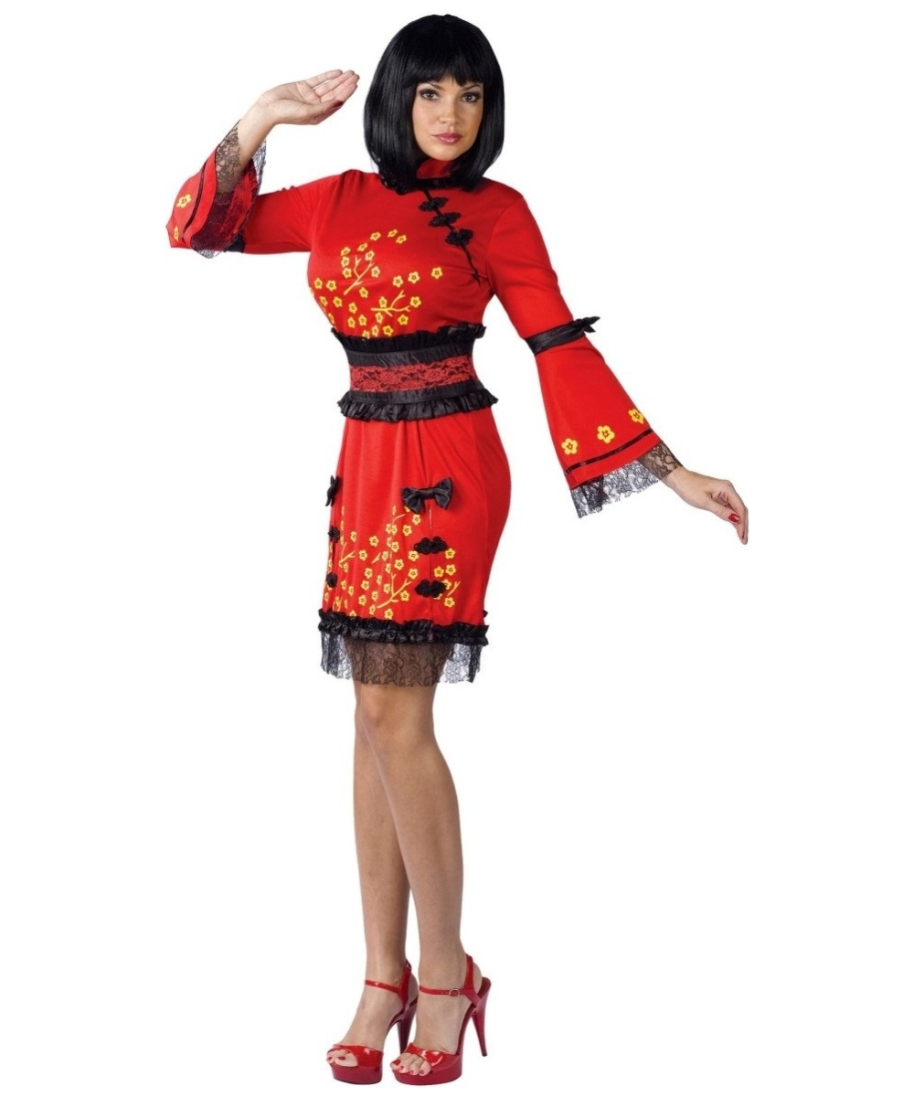 China Doll Costume for Adult - China Doll Halloween Costumes